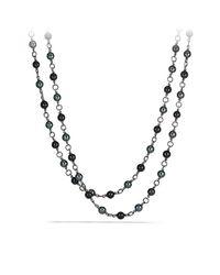 David Yurman | Metallic Bead Necklace | Lyst