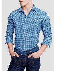 Thomas Pink | Blue Raeburn Check Slim Fit Shirt for Men | Lyst