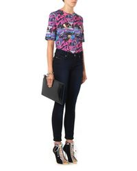 House of Holland - Pink Cocktail-print Cotton T-shirt - Lyst