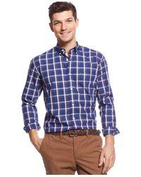 Tommy Hilfiger - Blue Plaid Classic-fit Shirt for Men - Lyst