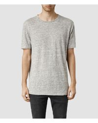 AllSaints - Gray Faxley Crew T-shirt Usa Usa for Men - Lyst