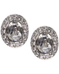 Givenchy - Metallic Oval Crystal And Pavé Button Earrings - Lyst
