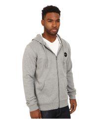 RVCA | Gray Solo Motors Zip Hoodie for Men | Lyst