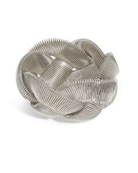 Catherine Stein | Metallic Silvertone Braided Stretch Cuff | Lyst