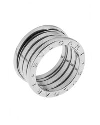 BVLGARI | Metallic Women's B.zero1 18k White Gold 4-band Ring Size 7 | Lyst