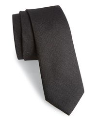 Calibrate | Black 'sunset' Solid Silk Tie for Men | Lyst