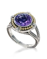 Effy | Purple Amethyst, Sterling Silver And 18k Yellow Gold Ring | Lyst