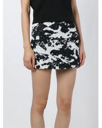 Neil Barrett | Black Jacquard Mini Skirt | Lyst
