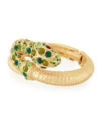 Kenneth Jay Lane | Green Embellished Snake Bracelet | Lyst