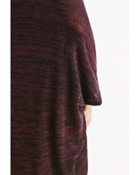 Forever 21   Purple Marled Knit Dolman Cardigan You've Been Added To The Waitlist   Lyst