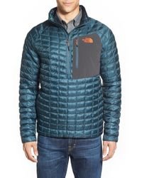 The North Face - Blue Thermoball Pullover Jacket for Men - Lyst