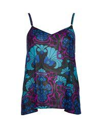 River Island - Purple Deco Floral Print Cami Top - Lyst