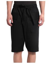Damir Doma - Black Cotton Bermuda Shorts With Drawstring for Men - Lyst