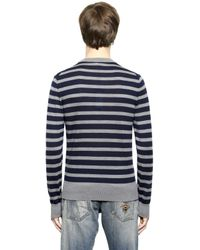 Dolce & Gabbana | Blue Striped Wool Sweater for Men | Lyst