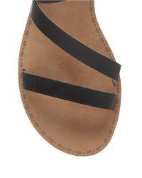 Lucky Brand | Black Fastt Leather Open-toe Sandals | Lyst
