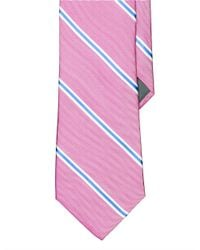 Lauren by Ralph Lauren | Pink Striped Silk Oxford Tie for Men | Lyst
