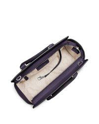 MICHAEL Michael Kors | Purple Selma Leather Medium Zip Satchel | Lyst