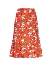 Carolina Herrera | Multicolor Bee Family Gathereing Print Skirt | Lyst