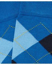 Smythson - Blue Manchester Argyle Socks - Lyst