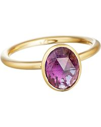 Astley Clarke | Purple Stilla 18ct Yellow-gold And Amethyst Ring | Lyst