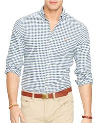 Polo Ralph Lauren | Green Checked Oxford Shirt for Men | Lyst