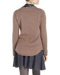 In Cashmere | Brown Shirttail Sweater | Lyst