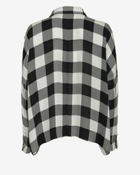 Rag & Bone - Gray Carley Gingham Buttondown Shirt - Lyst