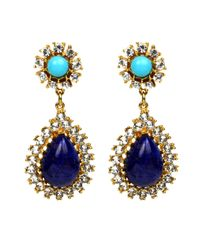Ben-Amun | Blue Teardrop Earrings | Lyst