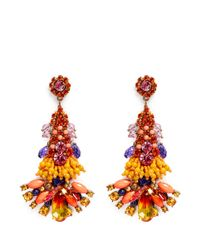 Anabela Chan | Orange 'Aphrodite' Swarovski Crystal Brass Drop Earrings | Lyst