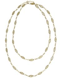 Fred Leighton | Metallic Victorian 18karat Gold Filigree Necklace | Lyst