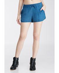 Forever 21 - Blue Drawstring Dolphin Shorts - Lyst