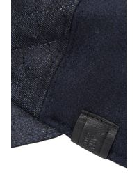 Armani - Blue Baseball Hat In Broadcloth And Denim for Men - Lyst