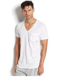 2xist | White 2(x)ist Men's Loungewear, Slub Cargo Pocket T-shirt for Men | Lyst