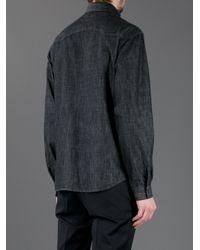 Saint Laurent - Gray Classic Denim Shirt for Men - Lyst
