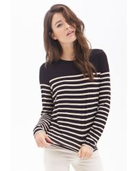 Forever 21 | Black Contemporary Striped Knit Top | Lyst
