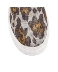 Kurt Geiger | Brown London Combination Flat Slip On Trainers | Lyst