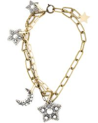 Lanvin | Metallic Star And Moon Pendant Necklace | Lyst