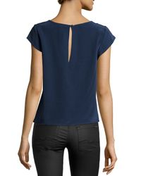 Joie - Blue Amoux Silk Tie-front Top - Lyst