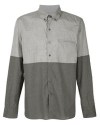 Ovadia And Sons - Gray Midwood Paneled Shirt for Men - Lyst