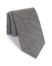 John W. Nordstrom - Black 'seabiscuit' Houndstooth Silk & Linen Tie for Men - Lyst