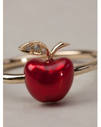 Alison Lou | Red Apple Stack Ring | Lyst