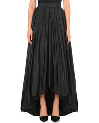 Max Mara Elegante | Black Riber Long Pleated Skirt | Lyst