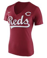 Nike - Women's Cincinnati Reds V Fan T-shirt - Lyst