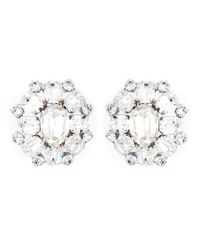DSquared² - White Embellished Clip-On Earrings - Lyst