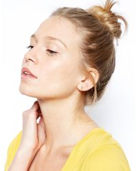 ASOS | Metallic Gold Plated Sterling Silver Swallow Earrings | Lyst