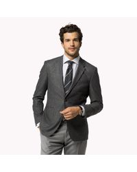 Tommy Hilfiger | Gray Wool Blend Fitted Blazer for Men | Lyst
