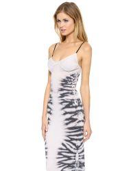 Raquel Allegra - Sheer Combo Bra Top Dress - Tie Dye Black And White - Lyst