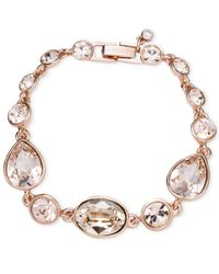 Givenchy - Metallic Rose Gold-Tone Crystal Flex Bracelet - Lyst