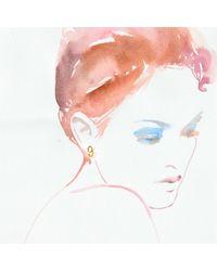 Lulu Frost - Metallic Code Number 18kt #9 Earring - Lyst