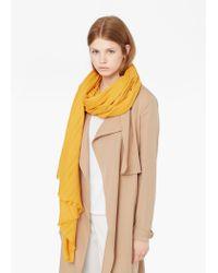 Mango | Yellow Cotton Scarf | Lyst